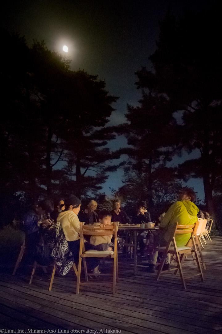 観察会の後は、お月見です♬