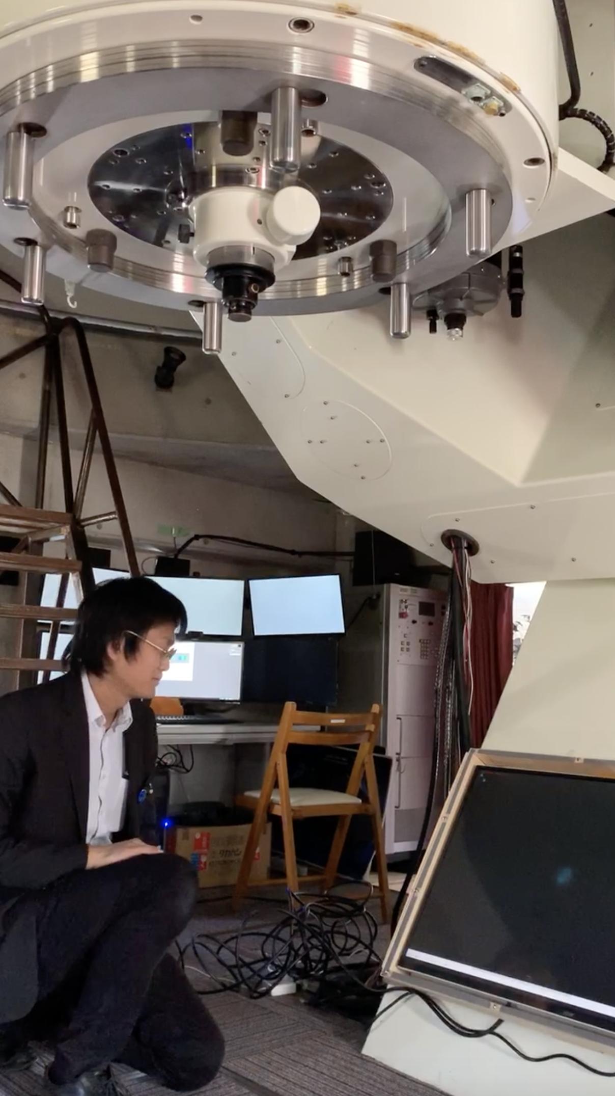 巨大天体望遠鏡&電子観望システムで天体観測
