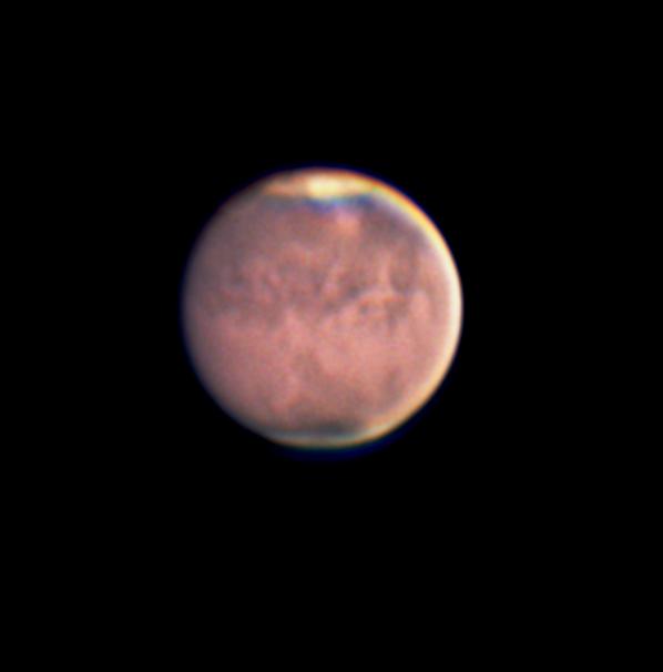 2018年7月撮影の火星(クリックで拡大)