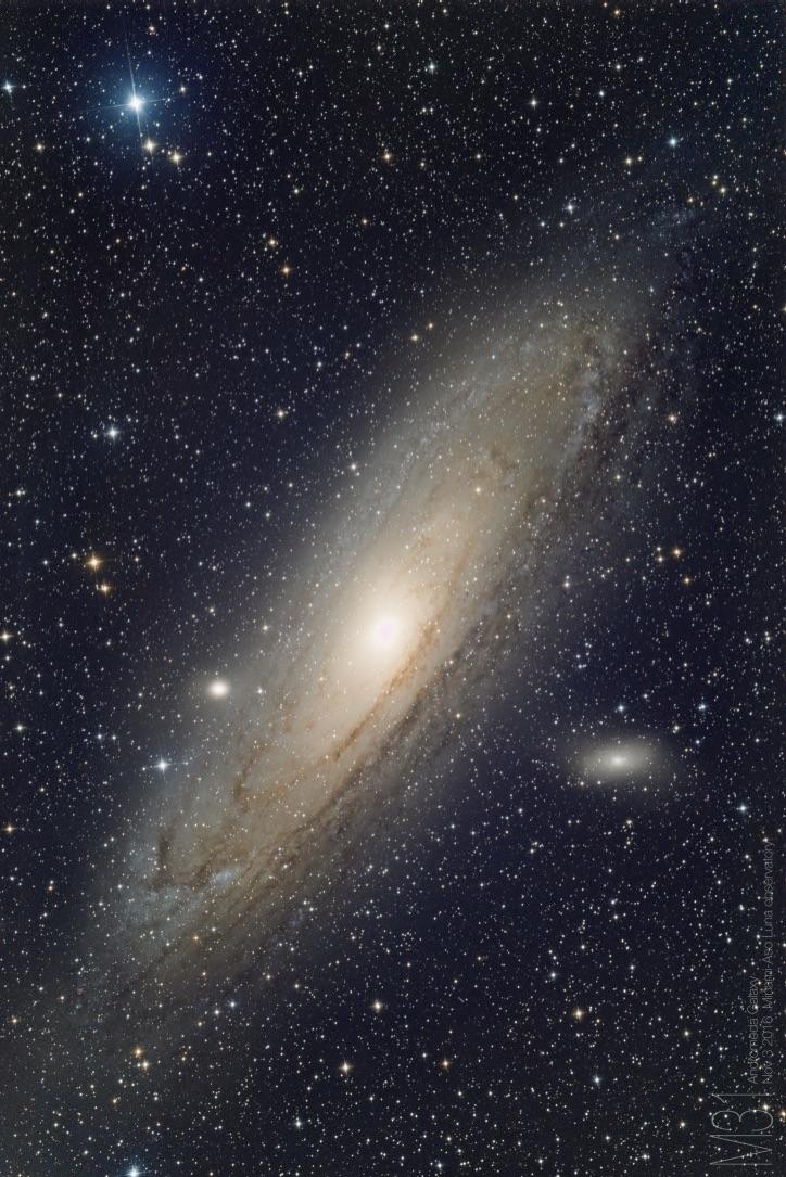 アンドロメダ銀河(ルナ天文台撮影)