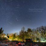 ふたご座流星群とウィルタネン彗星、すばるの共演