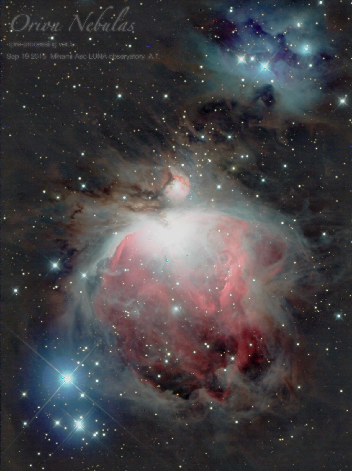 冬にご紹介する、オリオン座大星雲