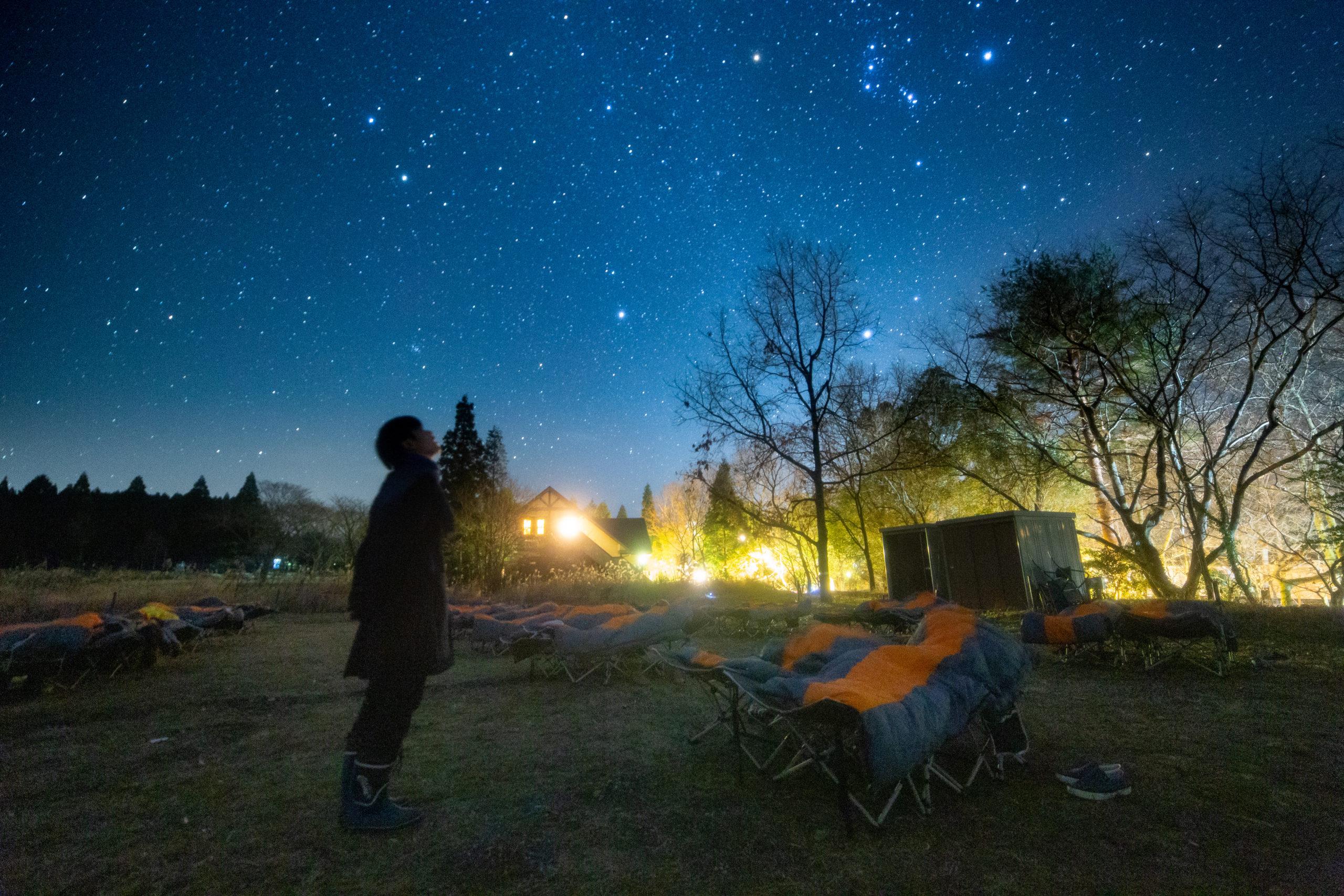 星見が原ではすべての季節で快適に星空を楽しむことができます